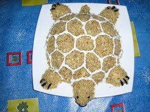 Салат черепаха с яблоком рецепт с