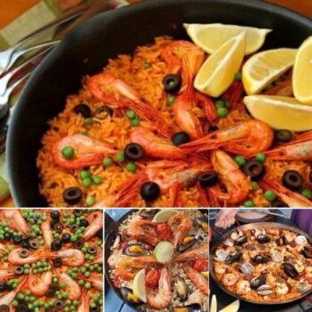 Паэлья с морепродуктами. Рецепты паэльи в домашних условиях