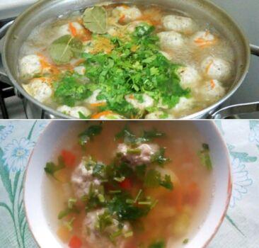 Суп с фрикадельками. Простой рецепт вкусного супа