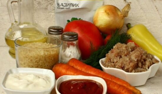 Лодочки из перца в духовке с овощами